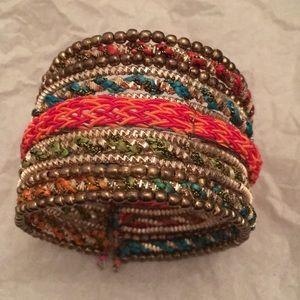 Ethnic style cuff bracelet